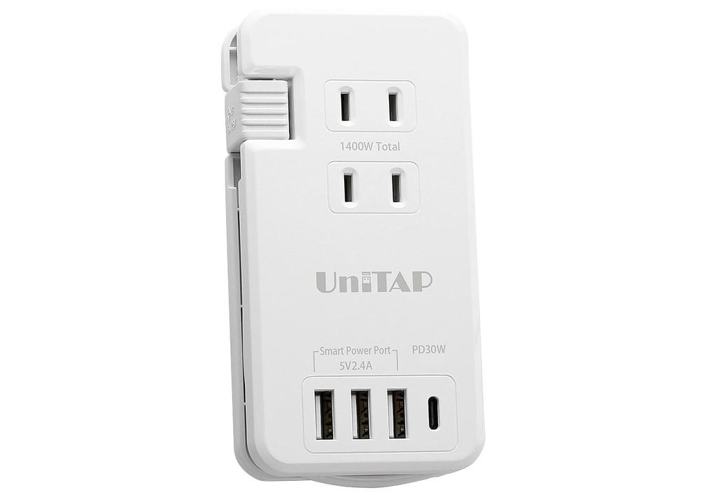 アダプター要らず! この電源タップはUSB-A×3と、USB-C(30W)充電器を兼ねている