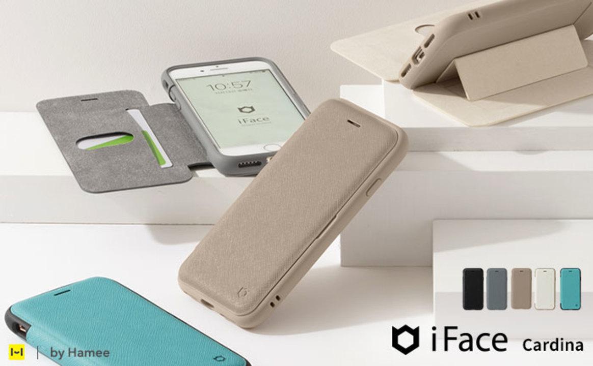 収納ポケットにマグネットスタンドあり。便利に使える、iFaceの手帳型iPhoneケース