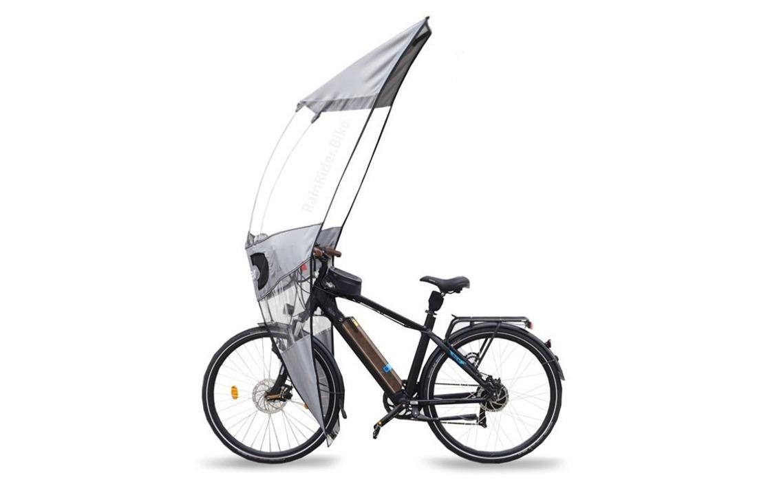 謎のカッコ良さ。モビルスーツのシールドみたいな自転車用雨除け「RainRider」