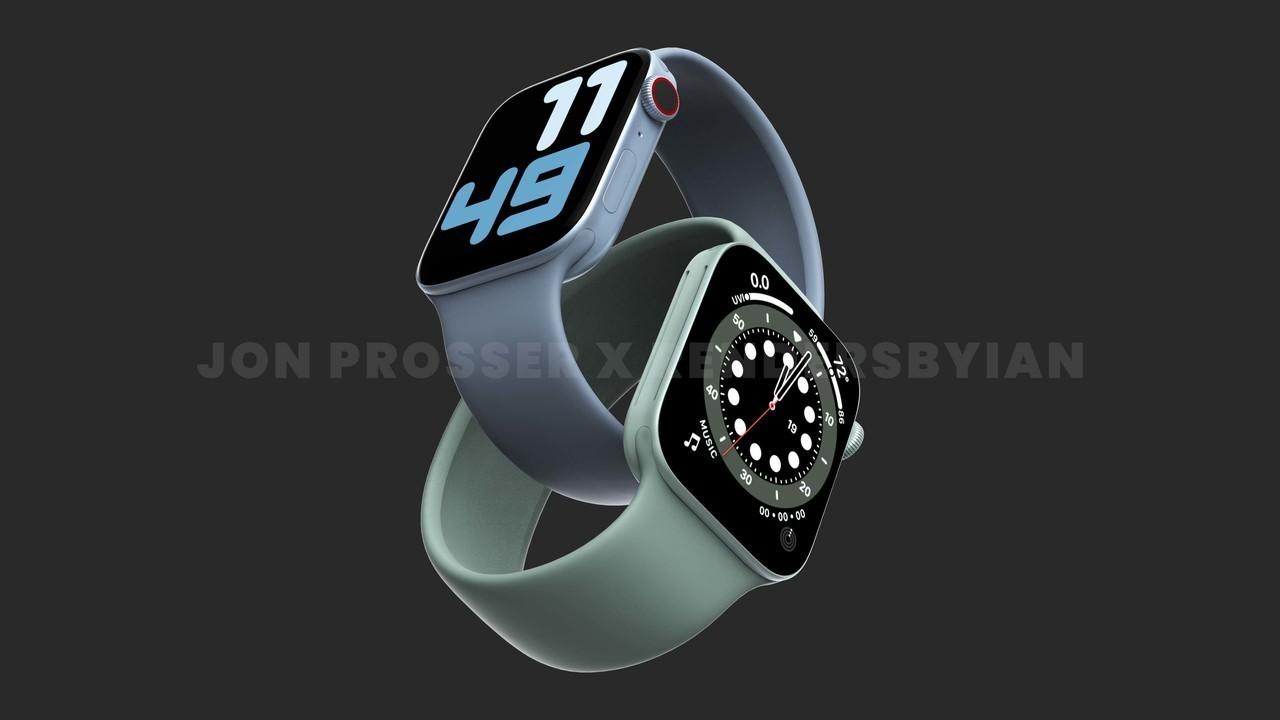 新しいApple Watchは41mmと45mmの2サイズになって、フラットなディスプレイになるらしいよ
