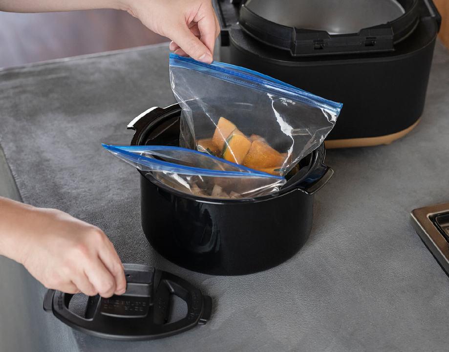 洗い物減ります! 象印のSTAN.シリーズからジッパー袋を使う自動調理鍋
