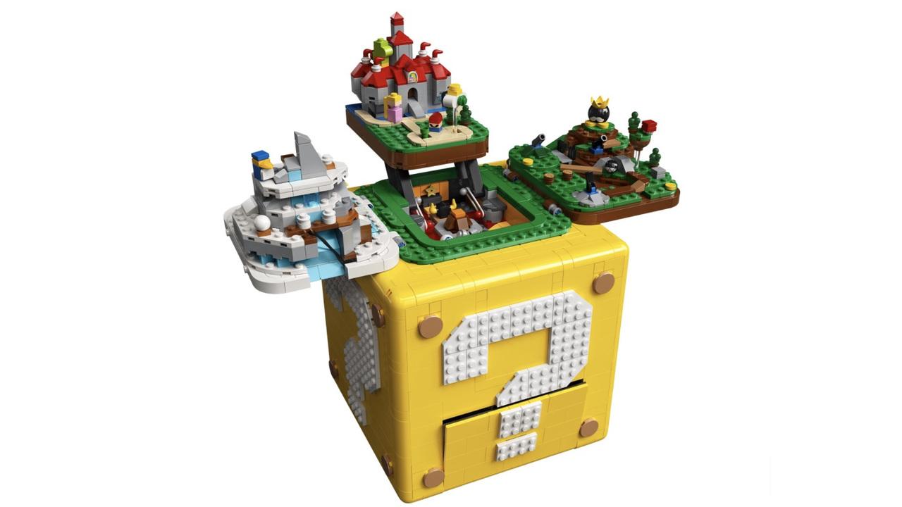 ギミックいろいろ。レゴから『スーパーマリオ64』の世界が飛び出すハテナブロックが登場