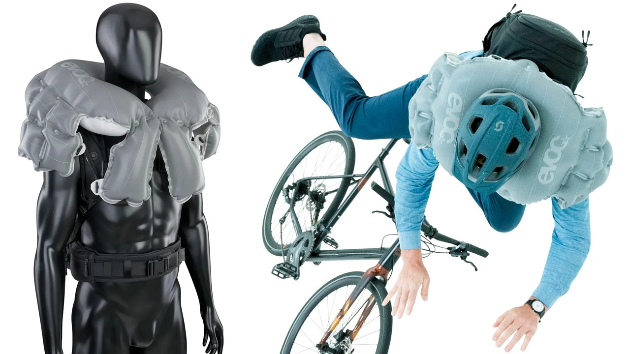 自転車乗り向け! 一瞬でエアバッグになるリュック