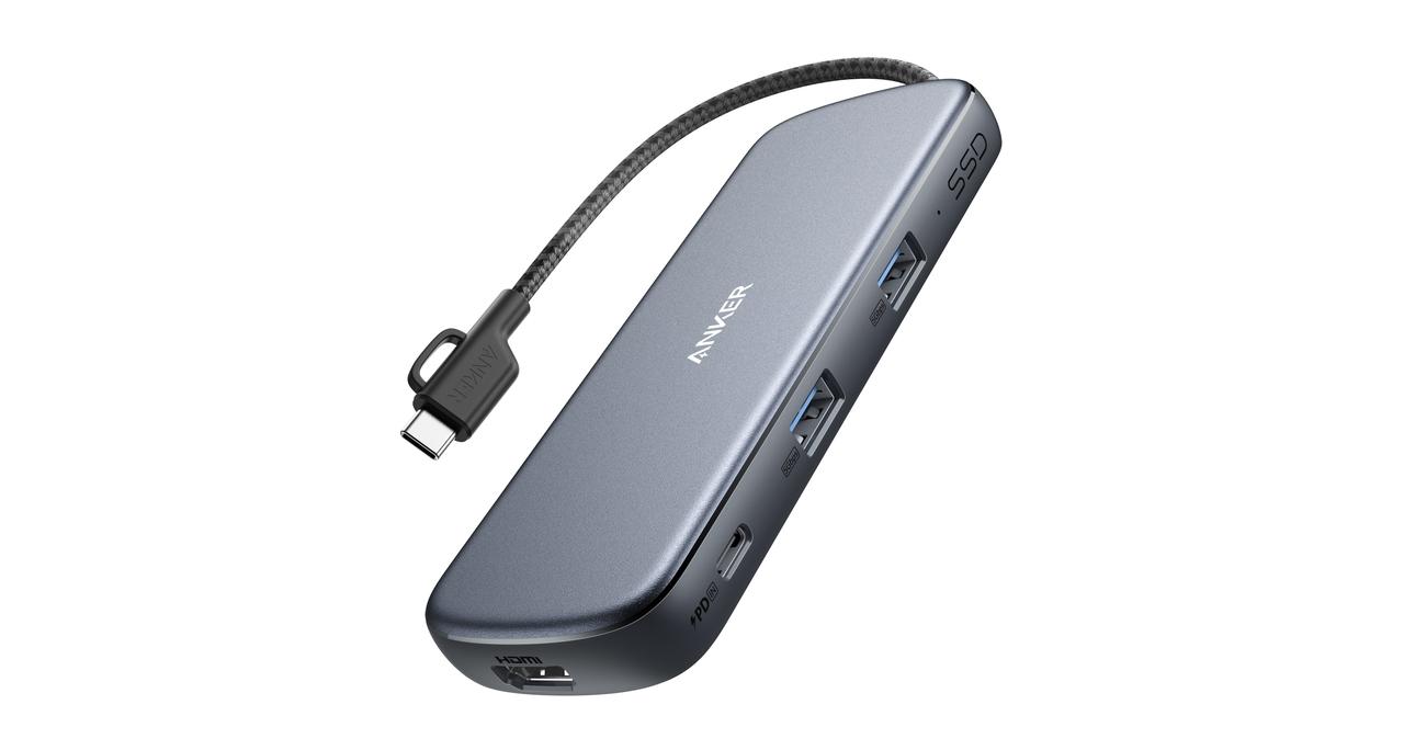 【今なら20%ポイント】USB-CハブとSSDが合体して最強に見える。Ankerの「これ1つで全部任せろUSBハブ」デビュー!