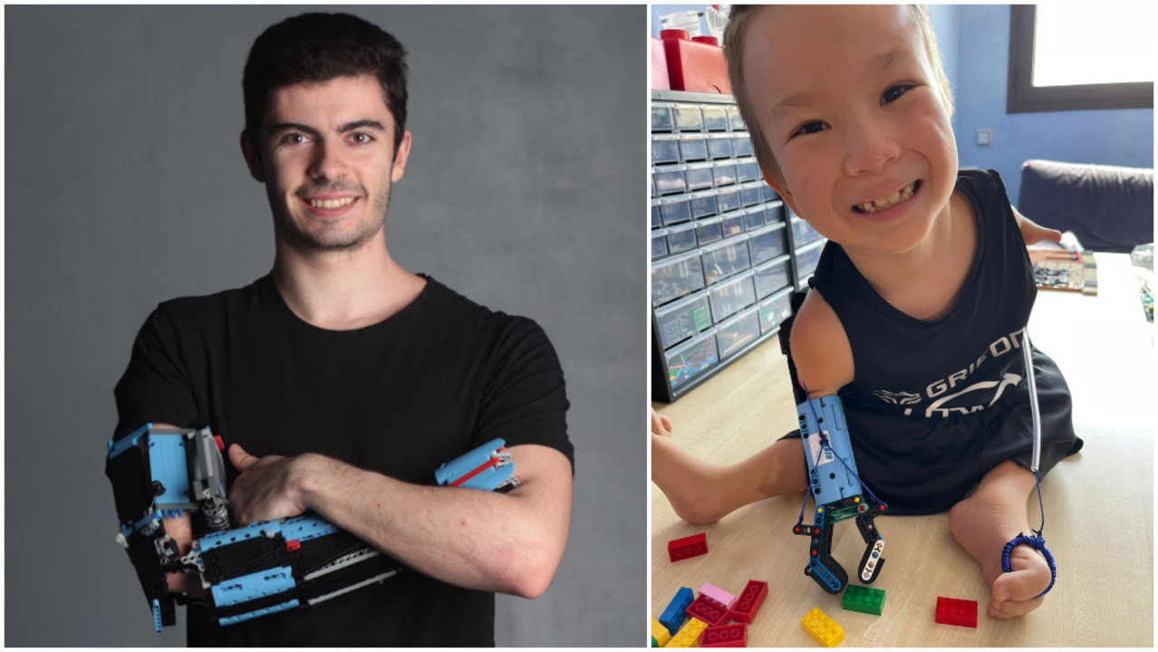 レゴで義手を作るレゴビルダー、8歳の子どもにレゴ義手を提供する
