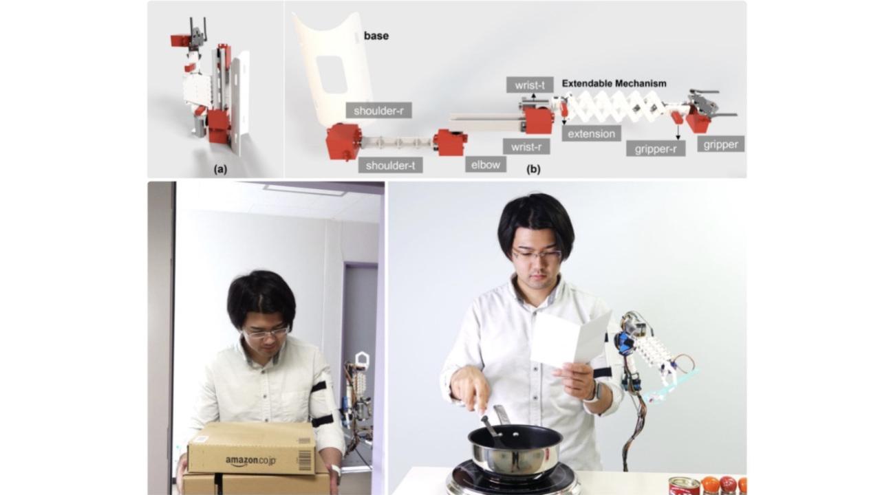 北陸先端科学技術大学院大学が生活を補助する第3の腕を開発中。スマウォのように暮らしの定番化を目指す
