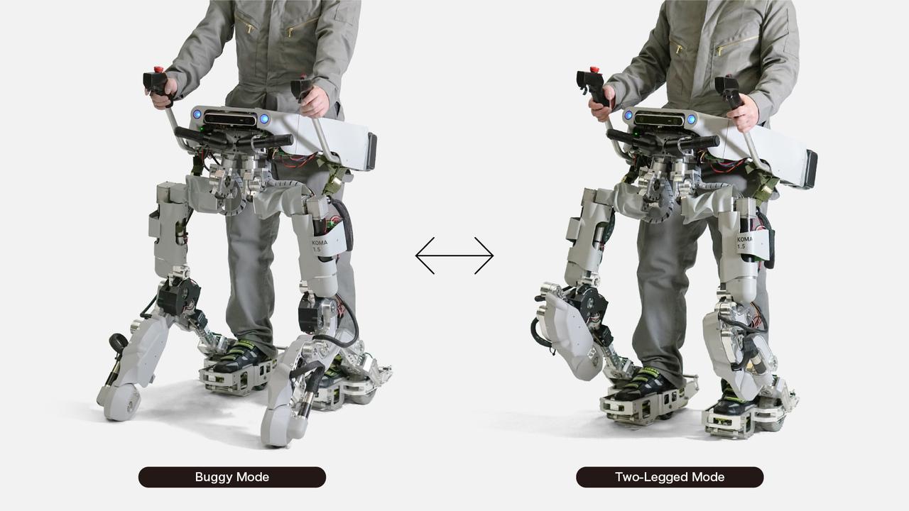 SFメカのパイロット気分。バギー型と2足歩行型にトランスフォームするパワード・スーツ「KOMA 1.5」