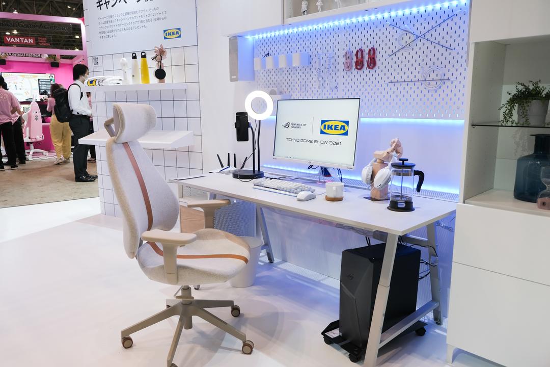 IKEAが東京ゲームショウに初出展! 白いゲーミング家具、すごい良いよコレ #TGS2021
