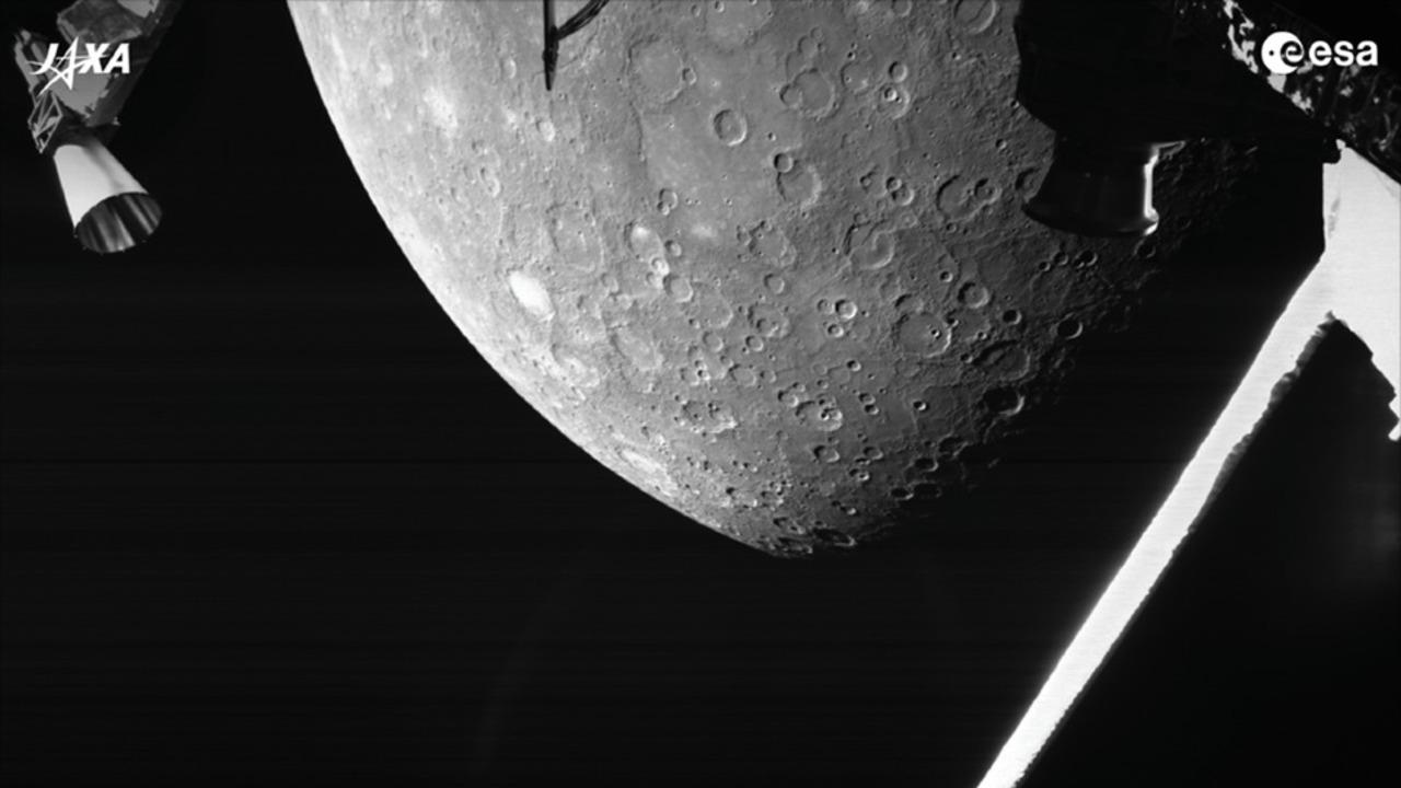 ESAとJAXAによる水星探査計画、初の水星フライバイ画像が届きました