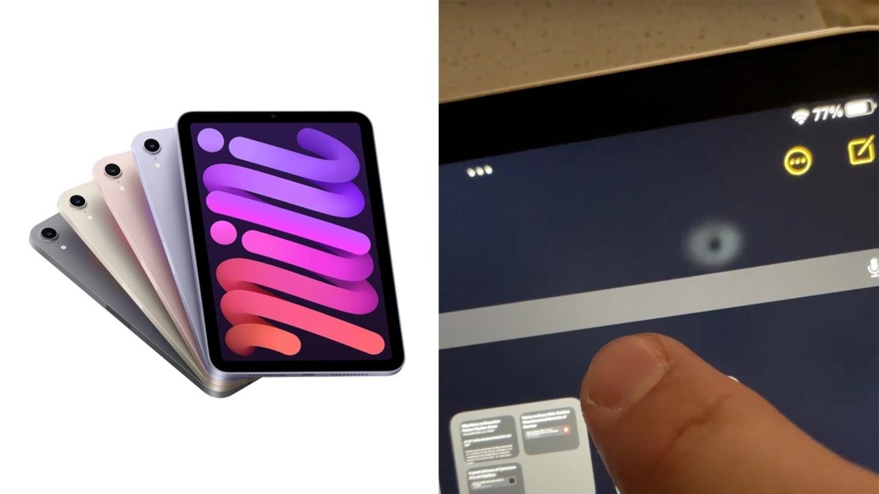 iPad mini 6の画面。押すと歪むってホント? 試してみました