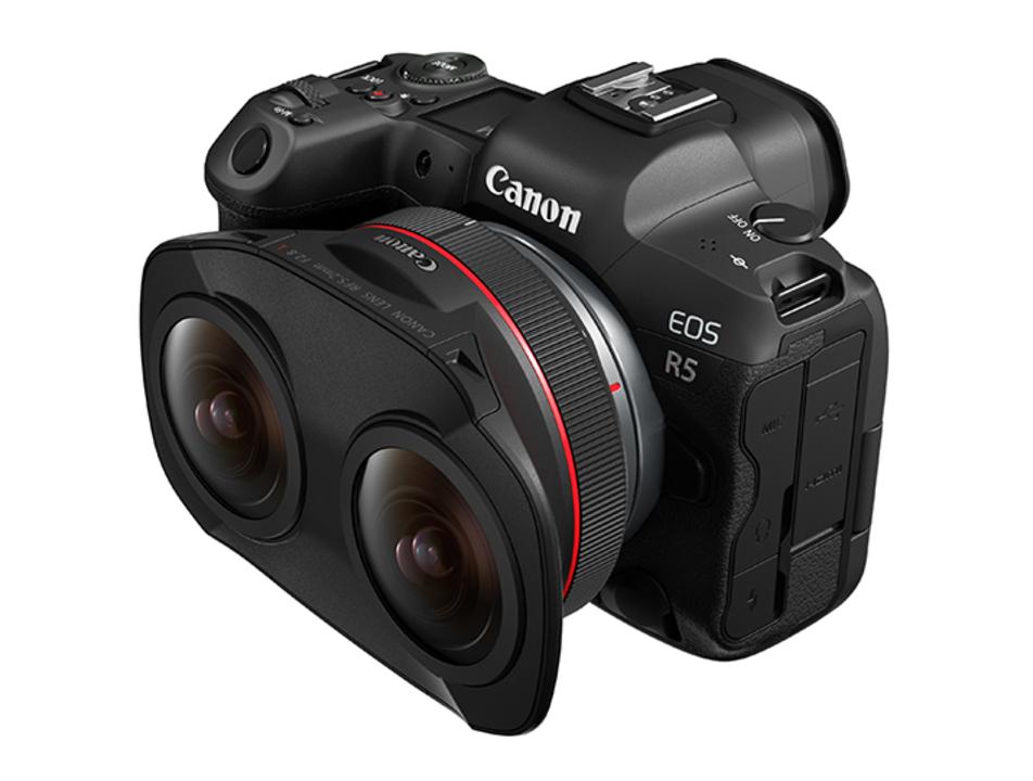 EOS R5の8K画質を活かす180度VR撮影が可能になる2眼レンズ