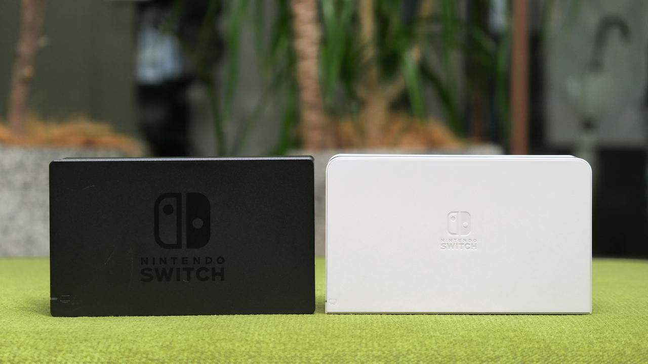 有線LANキター! Nintendo Switch(有機ELモデル)のドックを旧モデルと比較