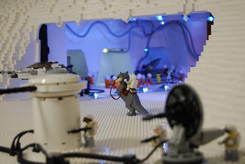 レゴブロックを6万個使ったスターウォーズのジオラマ