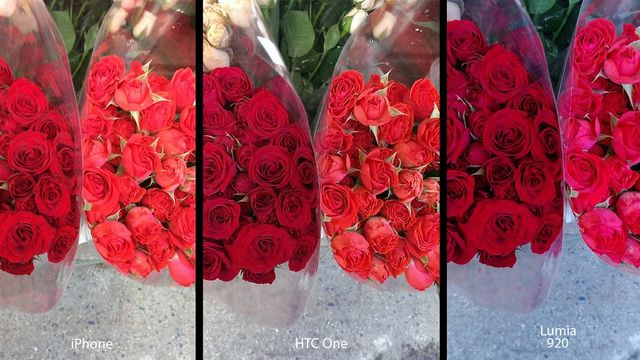 HTC Oneのカメラを、iPhone 5、Lumia 920と比較!