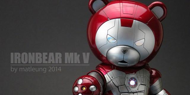 かっこかわいい宣言! クマ型ロボットをアイアンマンに改造した作品が超キュート