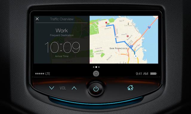 もうすぐ登場? アップルのカーナビ「iOS in the Car」のスクリーンショットと思われる画像