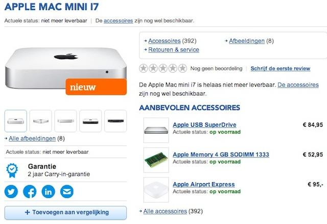 新型Mac miniはHaswellを搭載し2月末までに登場? ベルギーの小売店が情報をポロリ