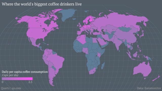 予想外? 世界一コーヒー党が多い国