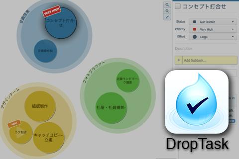メンバー同士のタスク管理に役に立つiOSアプリ『DropTask』
