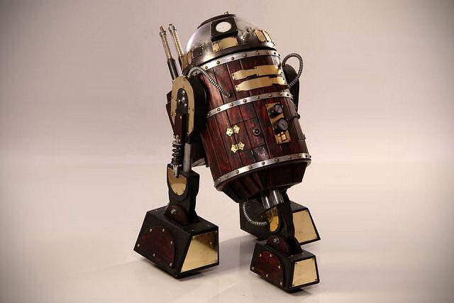 見える歯車。スチームパンク風R2-D2と散歩にでよう