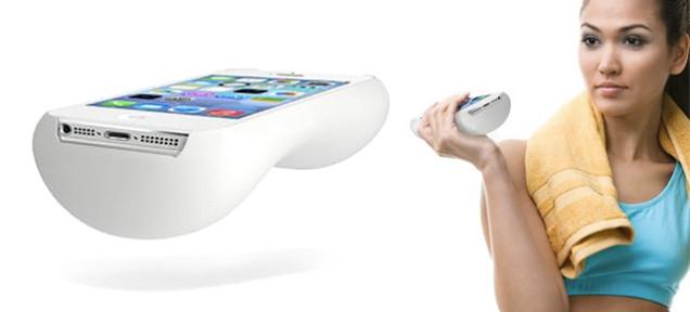 ある意味で革新的…軽いiPhoneを激重ダンベルに変えるフィットネスケース