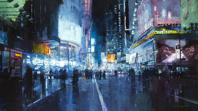 この世界を歩きたい。ジェレミー・マンが油彩で描く、美しすぎる都市風景