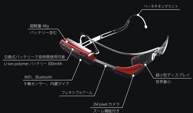 グーグルグラスのライバル? 大阪発のメガネ型ガジェットinforodが7月発売