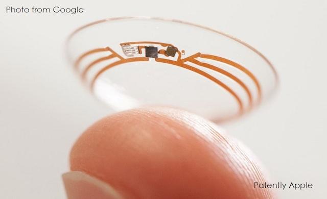 グーグルがコンタクトレンズ用に超小型カメラの特許を出したそうです