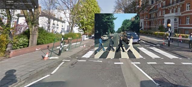 ビートルズもビースティーも。アルバムのジャケットをストリートビューに埋め込んだ写真集