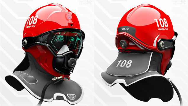 ウェアラブルだから可能、未来の消防士ヘルメット