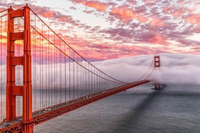 【祝開通77周年】ただ美しい。夜明けのゴールデンゲートブリッジ