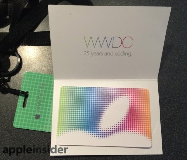激レア? WWDC参加者は記念iTunesカードが貰えるみたい