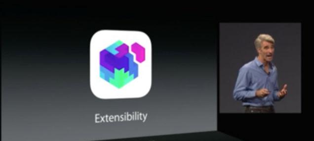 iOS 8ではアプリ間の連携が可能に