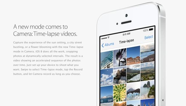 iOS 8のカメラにタイマー機能とタイムラプス撮影機能が追加されたみたい
