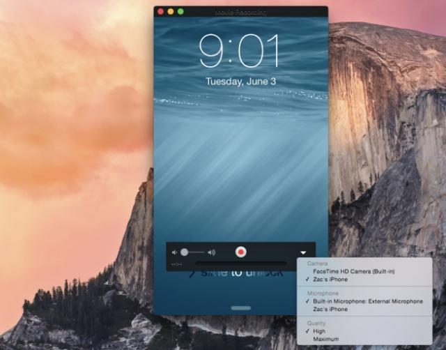 OS X YosemiteではiOS 8の画面録画ができる
