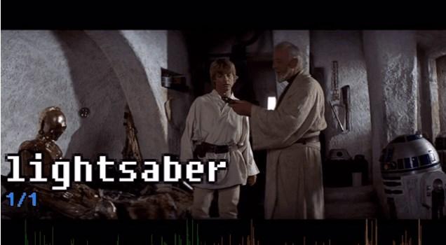 「スターウォーズ」の劇中で「ライトセーバー」と言ったのは一回だけ