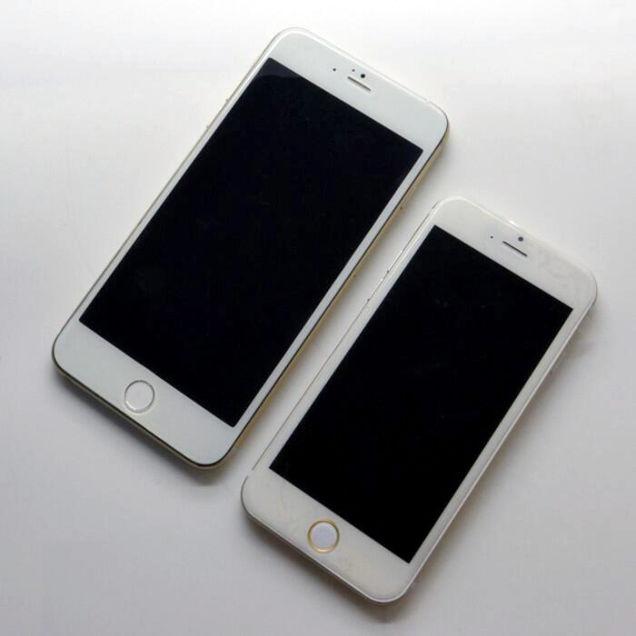 これが5.5インチ? iPhone 6のサイズ感が一目瞭然なモックが流出