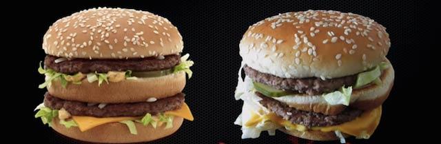 マクドナルドは「広告写真」と同じようなバーガー作ってくれるのか?