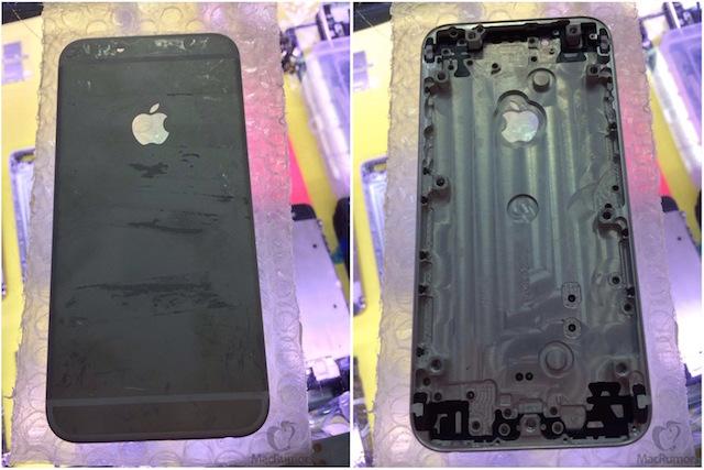 iPhone 6にまさかのブラックカラー? 黒い背面シェル画像が流出