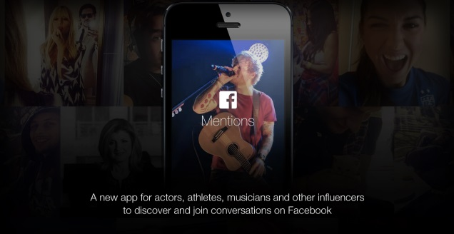 フェイスブック、有名人専用アプリ「Mentions」公開