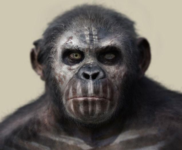 「猿の惑星: 新世紀」の猿はとてつもなく人間に似ている模様