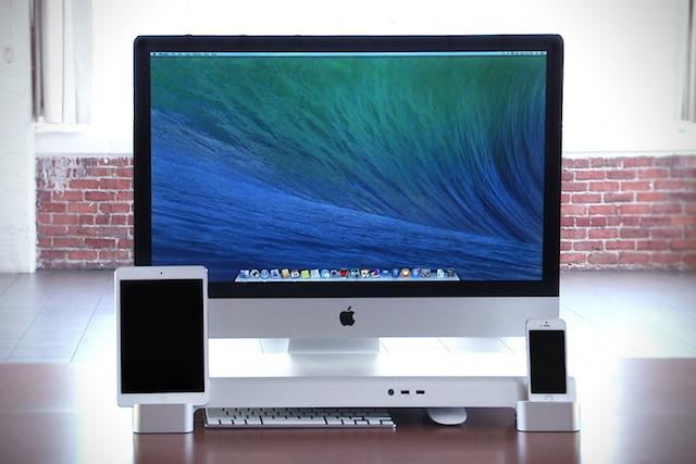 iMacやiPhone、iPad一式をかっこ良く整理できるスタンド