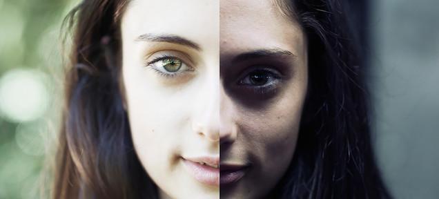 光の当て方によって人の顔はこんなに違って見える?