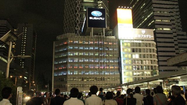 48年分の「ありがとう」をプロジェクションマッピングで。新宿西口、スバルからのメッセージが泣ける