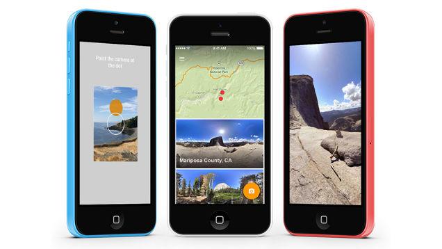 グーグルの360度パノラマ写真撮影アプリ「Photo Sphere」、iOSでも使えるように