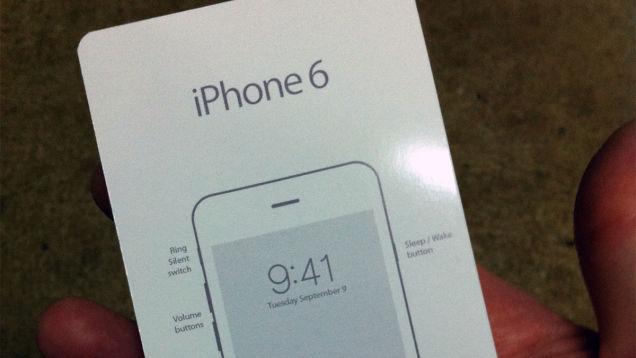 iPhone 6のスタートアップガイド流出か?