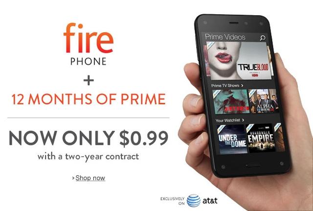 アマゾンも負けてない。Fire Phoneが約105円へ