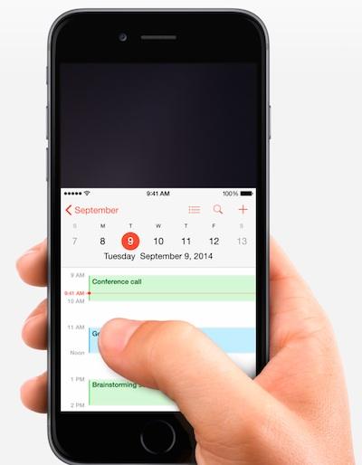 大きくなったiPhoneの新機能、片手モード「Reachability」の動画