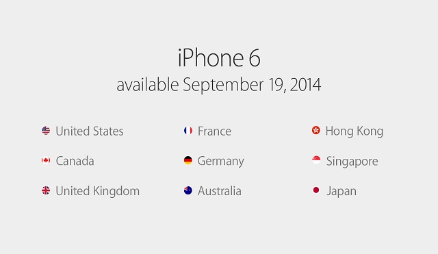iPhone 6とiPhone 6 Plusは予約9月12日→9月19日発売(日本でも!)