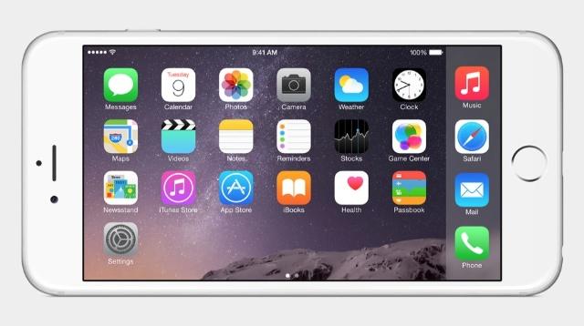 iPhone 6 Plus、新しいランドスケープヴューモードを搭載